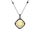 Champagne Quartz Sterling Silver Pendant With Chain 3.44ct