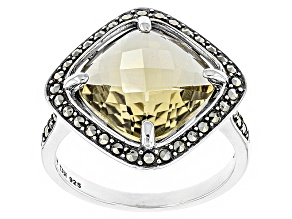 Champagne Quartz Sterling Silver Ring 3.28ct