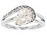 White Fabulite Strontium Titanate And White Zircon Sterling Silver Ring 2.40ctw