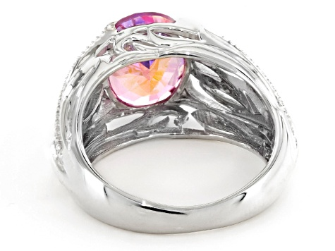 Pink Manor Rose, Mystic Topaz® Sterling Silver Ring 4.04ctw