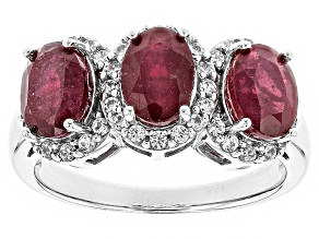 Mahaleo Ruby Sterling Silver Ring 3.17ctw