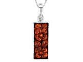Red Sponge Coral Sterling Silver Carved Floral Enhancer With Chain