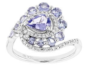 Blue Tanzanite Sterling Silver Ring 1.34ctw