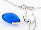 Blue Onyx Sterling Silver Enhancer With Chain