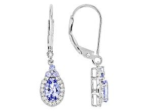 Blue Tanzanite Sterling Silver Dangle Earrings 1.00ctw