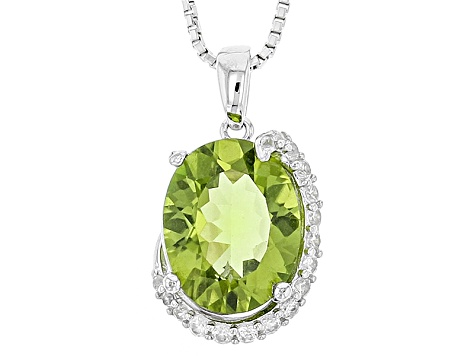 Green Peridot Sterling Silver Pendant With Chain 2.52ctw