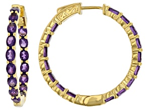 Purple amethyst 18k yellow gold over sterling silver 4.30ctw