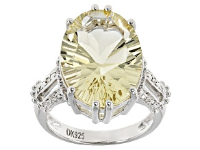 Yellow Labradorite Sterling Silver Ring 9.06ctw