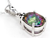 Green Mystic Topaz® Sterling Silver Pendant With Chain 4.26ctw
