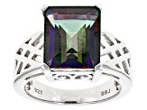 Green Mystic Topaz® Sterling Silver Ring 6.28ct