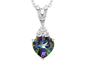 Green Mystic Topaz® Sterling Silver Pendant With Chain 1.98ctw