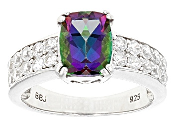 Picture of Green Mystic Topaz® Sterling Silver Ring 3.23ctw