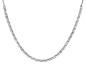 White Brazilian Goshenite Sterling Silver Necklace 4.80ctw