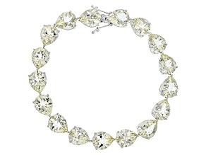 Yellow Labradorite Sterling Silver Bracelet 43.00ctw