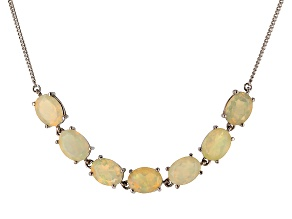 Honey Ethiopian Opal Sterling Silver Necklace 3.85ctw