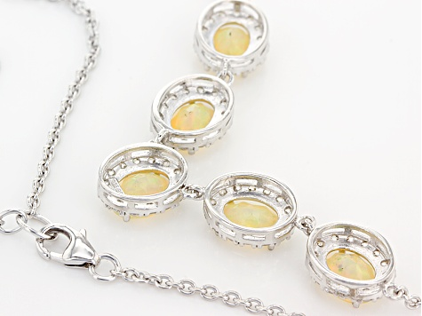 Ethiopian Opal Sterling Silver Necklace 4.00ctw