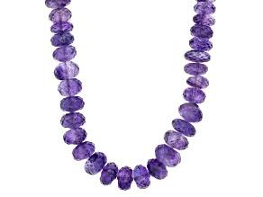 Purple Amethyst Sterling Silver Necklace 200.00ctw