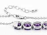 Purple Amethyst Sterling Silver Necklace 36.97ctw