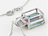 Green Mystic Topaz® Rhodium Over Sterling Silver Pendant With Chain 8.19ctw