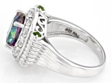 Green Mystic Topaz® Sterling Silver Ring 4.41ctw
