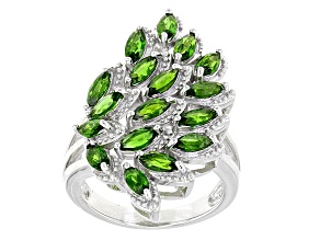 Green Russian Chrome Diopside Sterling Silver Ring 2.55ctw