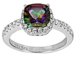 Green Mystic Topaz® Sterling Silver Ring 2.93ctw