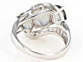 Green Labradorite Sterling Silver Ring 3.18ctw