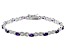 Purple Amethyst Rhodium Over Sterling Silver Station Bracelet 2.69ctw