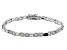 Multi Gemstone Rhodium Over Sterling Silver Station Bracelet 2.90 ctw