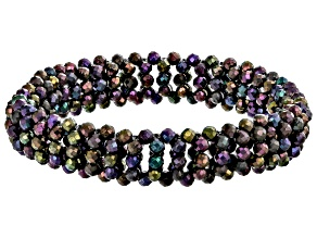 Round Rainbow Spinel Stretch Bracelet