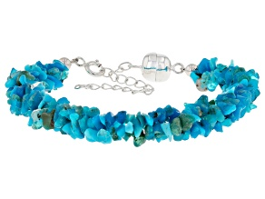 Blue Ethiopia Opal Sterling Silver Bracelet