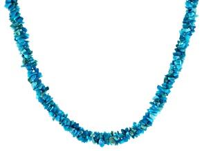 Paraiba Blue Color Opal Sterling Silver Multi-Row Necklace