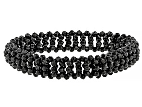 Black Spinel Stretch Bracelet 75ctw