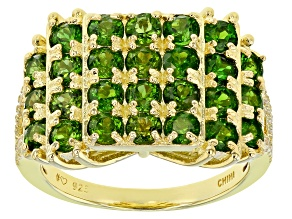 Chrome Diopside18K Yellow Gold Over Sterling Silver Ring 2.65ctw