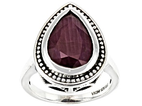 Red Ruby Sterling Silver Ring 4.00ct