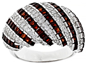 Red Garnet Rhodium Over Sterling Silver Ring 2.35ctw