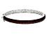 Red Garnet Rhodium Over Sterling Silver Bangle Bracelet 7.50ctw