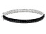 Black Spinel  Rhodium Over Sterling Silver Bangle Bracelet 7.50ctw