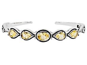 Ctirine Sterling Silver Cuff Bracelet 4.00ctw