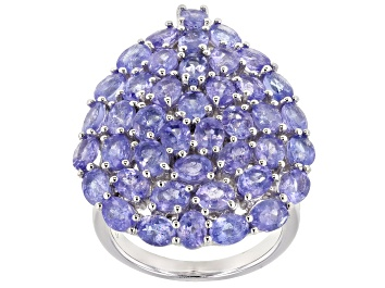 Picture of Tanzanite Rhodium Over Sterling Silver Ring 8.07ctw
