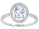 Sky Blue Topaz Rhodium Over Sterling Silver Ring 2.00ctw