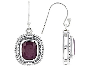 Red Indian Ruby Sterling Silver Earrings 8.50ctw