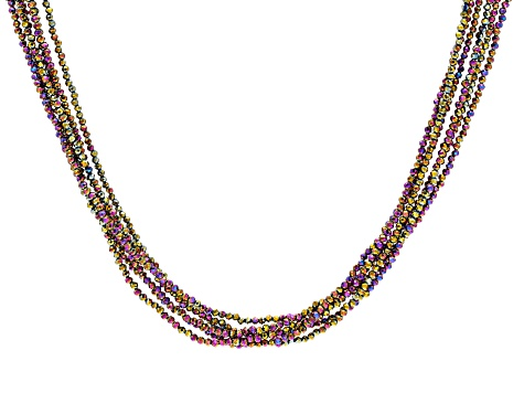 Chocolate Spinel and Diamond Necklace