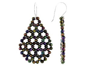 Rainbow Color Spinel Sterling Silver Dangle Earrings
