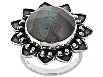 Picture of Gray Labradorite Sterling Silver Ring