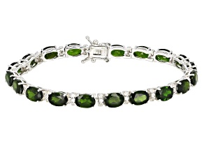 Chrome Diopside Rhodium Over Sterling Silver  Bracelet 13.15ctw