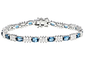 London Blue Topaz Rhodium Over Silver Bracelet 12.40ctw