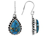 Blue Turquoise Sterling Silver Dangle Earrings