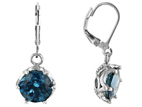 London Blue Topaz Rhodium Over Silver Earrings 8.00ctw