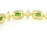 Green Chrome 18k Yellow Gold Over Sterling Silver Bolo Bracelet 6.77ctw